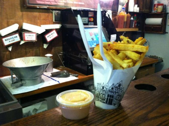 Belgian Fries at Pommes Frites