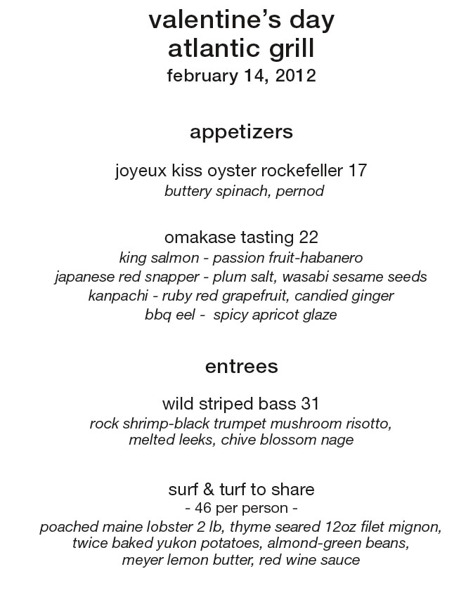 Valentines Day In Nyc Prix Fixe Dining Guide 2dineout The Luxury