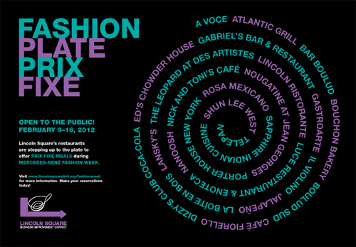 Fashion Week Plate Prix Fixe Returns to NYC