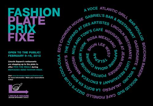 Fashion Week Plate Prix Fixe Returns to NYC