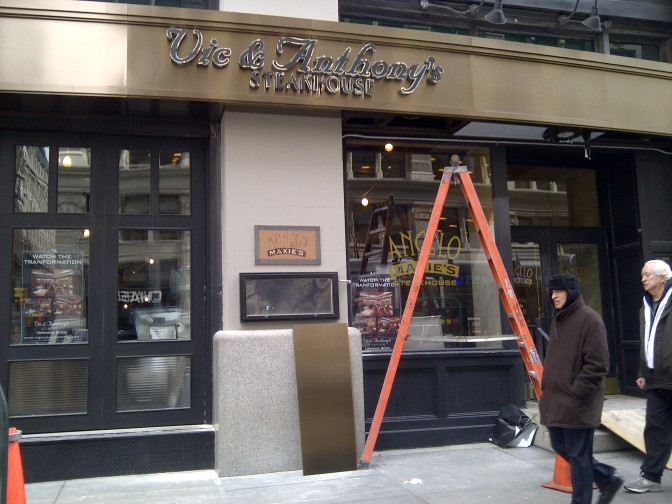 Angelo & Maxie's is Now…Vic & Anthony's Steakhouse